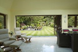 Origin bi fold doors open