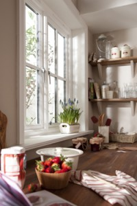Timber cottage window
