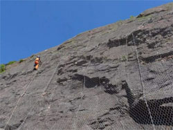 Rockfall protection at old quarry