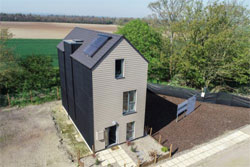 Metrotile roof on PassivHaus
